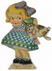 Vintage Easter Girl Decoration