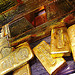Bullion vault of gold bars
