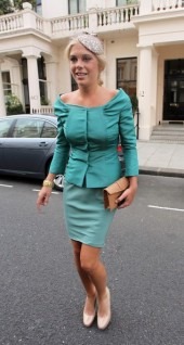 Chelsy Davy, girlfriend of Prince William, in her Royal Wedding finery