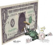 The US dollar continues to crash putting pressure on the US economy and inflation.