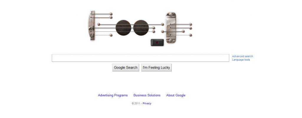 Google Guitar HomePage