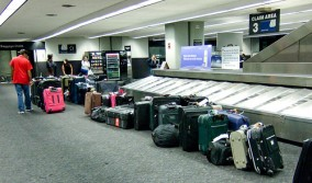 Luggage at carousel