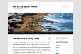 What can the twenty eleven theme do