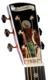 Look at the beautiful abalone inlay featured on the Blueridge BR 2060 Lonesome Pine Fiddler's commemorative guitar!