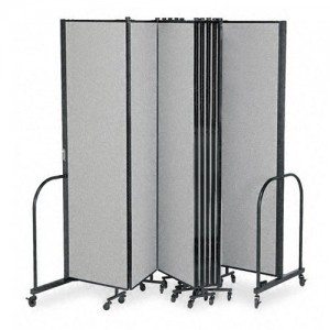 temporary office dividers creating home office space