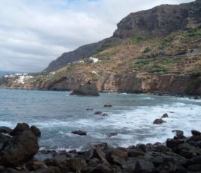 Cliffs and beach in Las Aguas